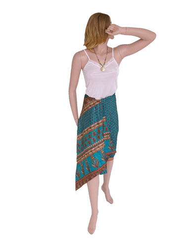 Printed Silk Sarong in Bag