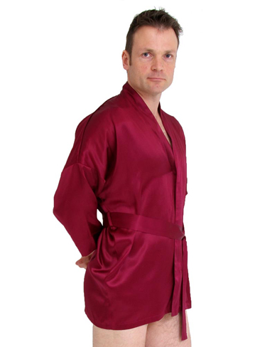 Short Silk Kimono Men Nightwear Kimonos The House