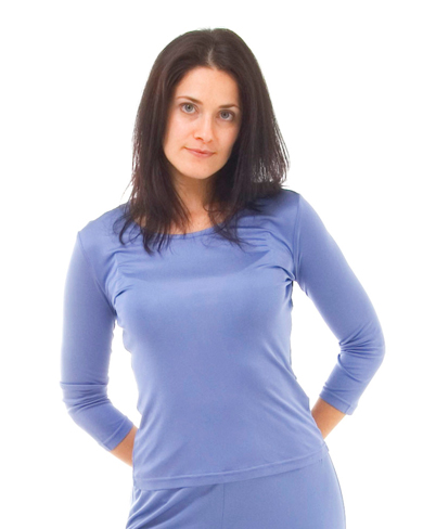 Knitted Silk Three Quarter Length Sleeve Top
