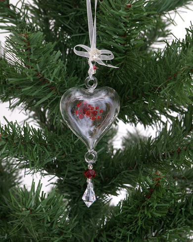 Glass Heart Decoration