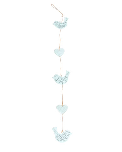 String of Heart and Bird Decorations