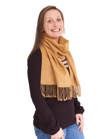 Tan Pure Brushed Silk Scarf
