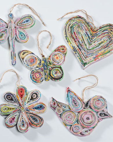 Recycled Paper Decorations