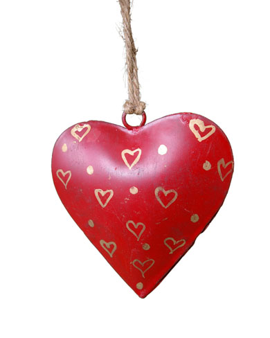 Small Metal Heart Decoration