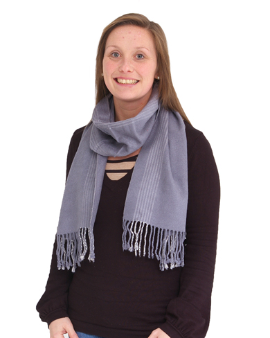 Grey Pure Brushed Silk Scarf